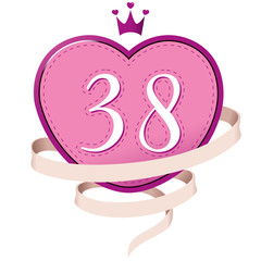 number 38 # 16