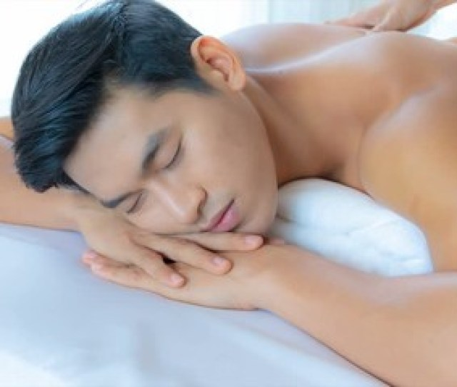 007 Young Handsome Asian Man Getting Thai Massage In Spa