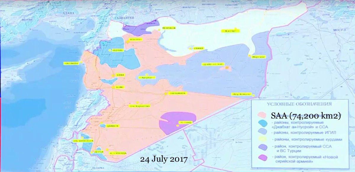 Prima e dopo l'intervento russo in Siria
