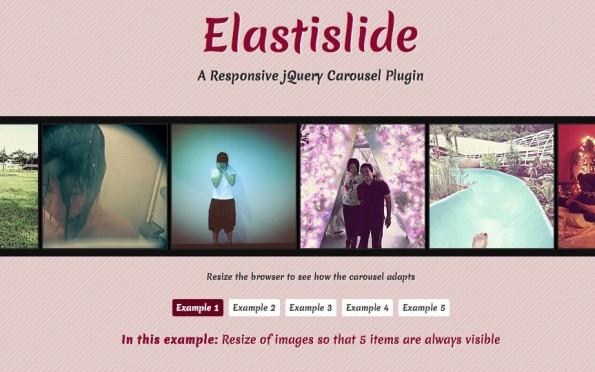 jQuery Slideshow Responsive Webdesign Elastislide