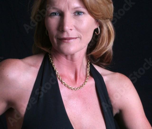 Pretty Mature Woman In Black