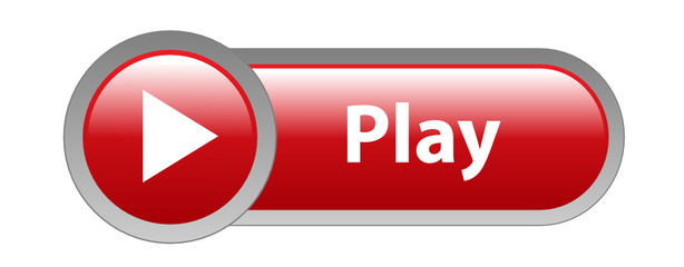 """PLAY"""" Web Button (video media player key icon watch live music ..."""