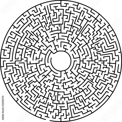 Circular Maze Stock Image And Royalty Free Vector Files