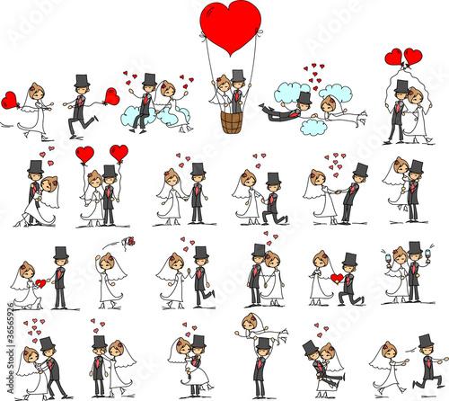 """""""набор свадебных фотографий, жених и невеста в любви ..."""