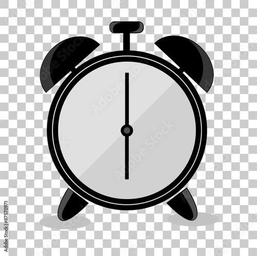 Doodle Alarm Clock At Transparent Effect Background