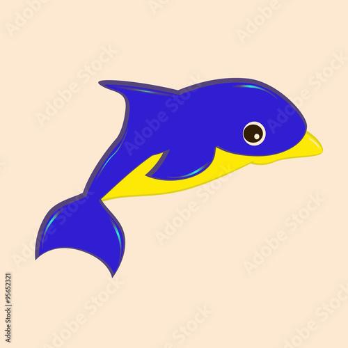 """""""Маленький дельфин в свободном полете"""" Stock image and ..."""