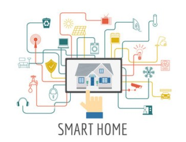 Eco friendly smart house concept. Infographic template. Flat sty