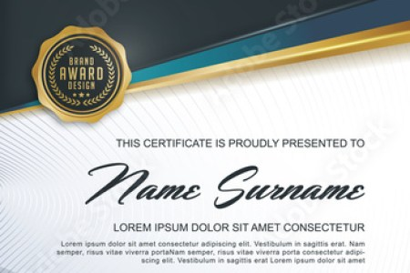 certificate template with Luxury and modern pattern  Qualification     certificate template with Luxury and modern pattern  Qualification certificate  blank template with elegant