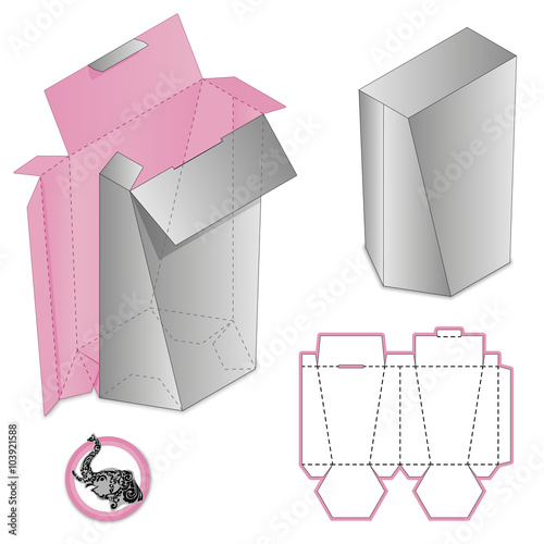 Gift Box Packaging Template Custom Protective Box Design