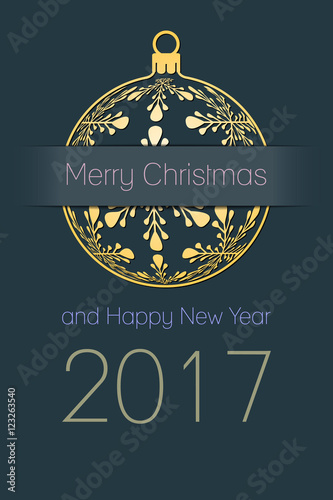 Merry New Year Greetings Christmas Happy 2017 And