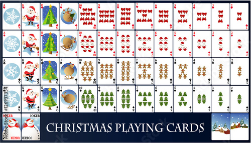 Christmas Playing Cards Stock Image And Royalty Free