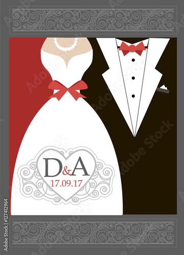 Red And Black Wedding Invitations With Artistic Ornaments Of Beautiful Invitation Cards Card Design 17