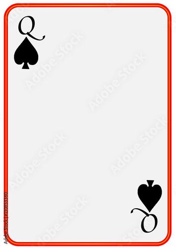 Queen Hearts Border Card Templates