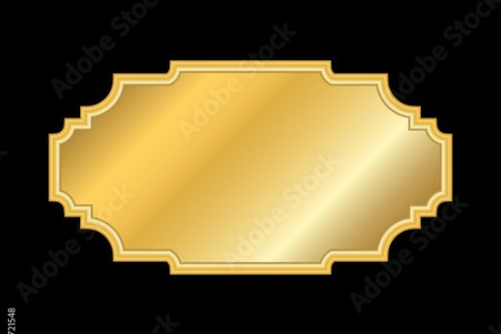 Gold frame  Beautiful simple golden design  Vintage style decorative     Beautiful simple golden design  Vintage style decorative border  isolated  on black