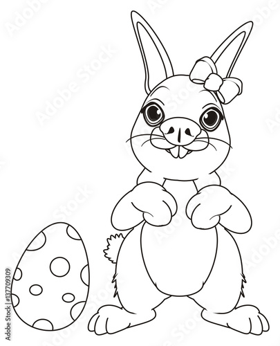 Stand Rabbit Coloring Printable