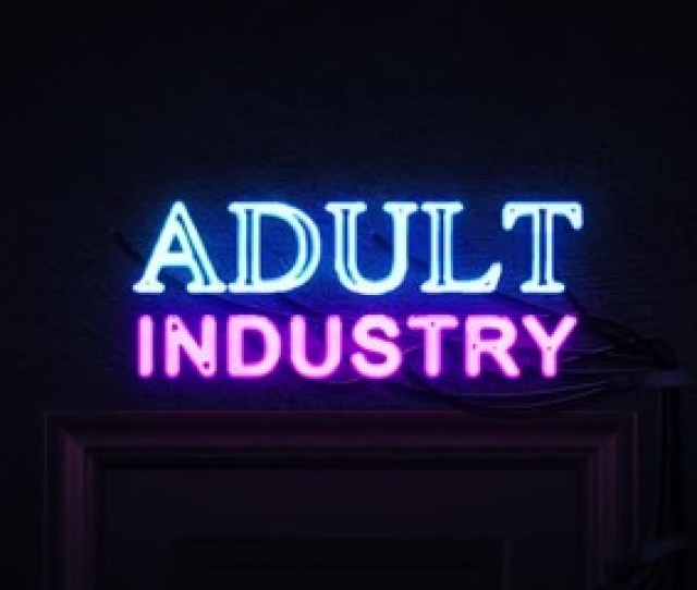 012 Adult Industry Neon Sign Turning On And Off