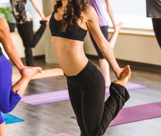Fit Girl In Yoga Class