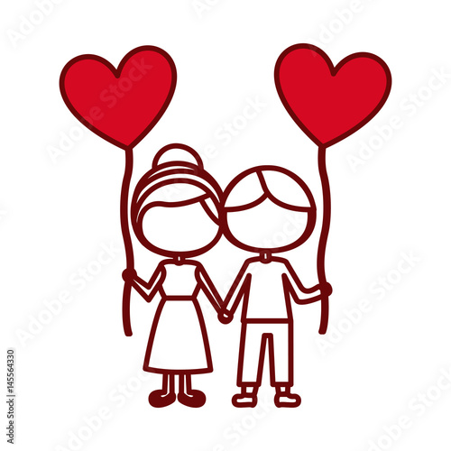 """Download """"red silhouette of caricature faceless couple of boy and ..."""