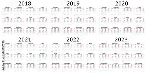 2023 And 2022 Yearly Calendar