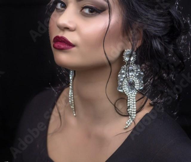 Gorgeous Brunette Woman Portrait