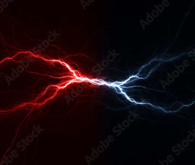 Fire And Ice Plasma Lightning Swirl Abstract Electrical Background