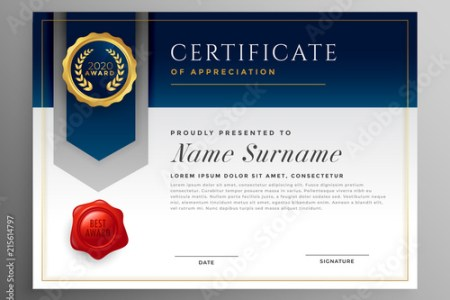 professional blue certificate template design  Stock image and     professional blue certificate template design
