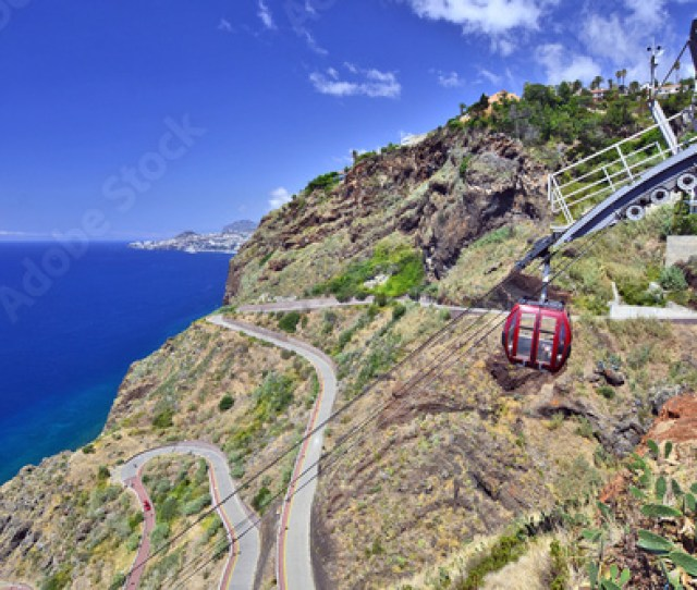 Garajau Cable Car Madeira Island Portugal This Means Of Transport Allows Access To