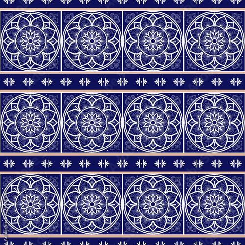 italian tile pattern vector seamless with border ornament portugal azulejos mexican talavera spanish sicily majolica or delft dutch ceramic