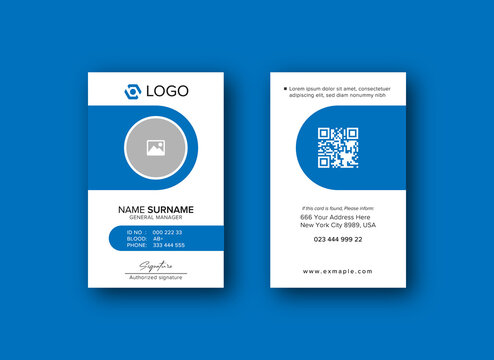 Design your own staff id cards and badges. 5 893 Best Employee Id Card Template Images Stock Photos Vectors Adobe Stock
