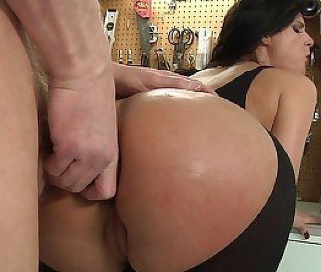Submissive Brunette With A Thick Ass Licking Balls And More
