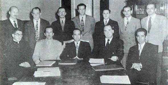 La junta fundadora de la Segunda República