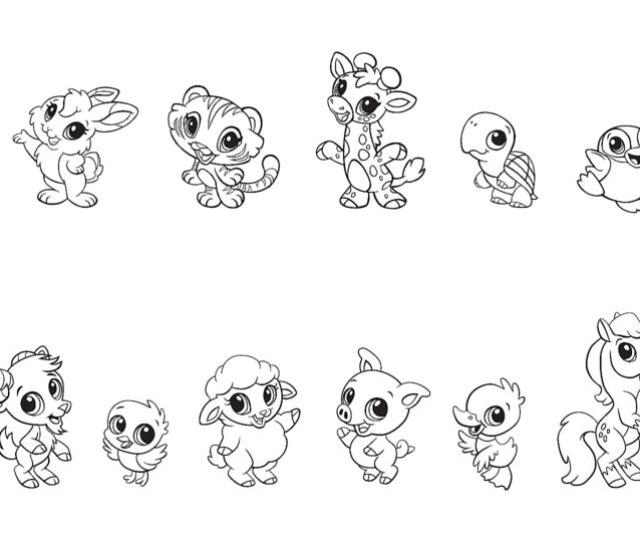 Free Baby Animal Coloring Pages Printables Leapfrog