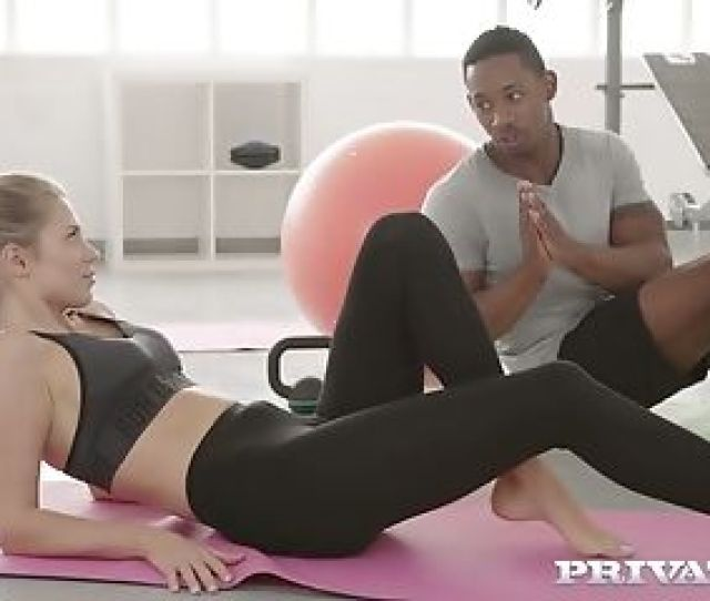 Captivating Milky Chick Mary Kalisy Gets Intimate With Her Black Yoga Instructor