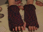 guanti senza dita, fingerless, uncinetto, lana