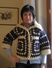 lana naturale, Aquilana, giacchino, piastrella, crochet, barbara fiorentini