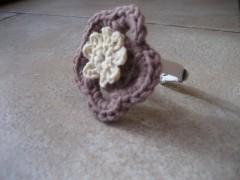 Aquilana, Pecunia, crochet, fiori, bracciale