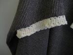 bordo manica, uncinetto, lana naturale