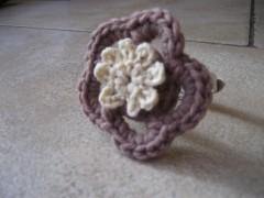 Aquilana, Pecunia, bracciale, fiore, crochet