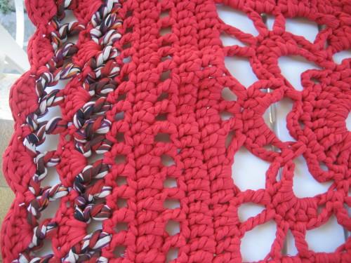 tappeto, fettuccia, crochet, barbara fiorentini