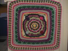 crochet, uncinetto, quadro, pannello, cotone