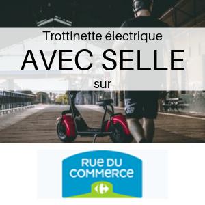 Trottinette électrique AVEC SELLE chez Carrefour