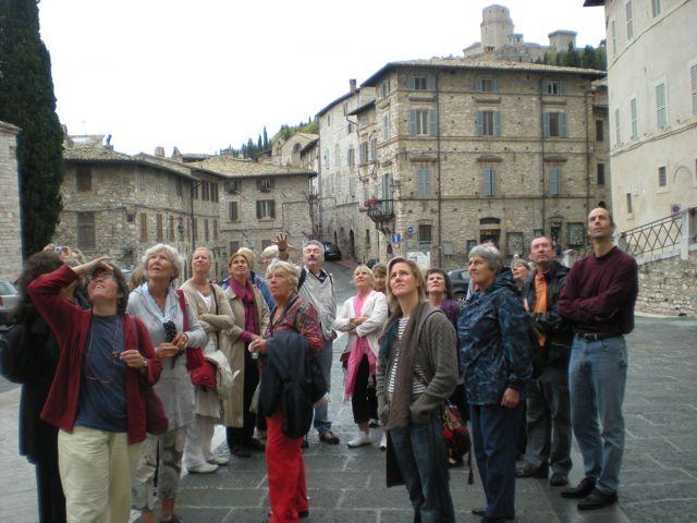 Pilgrims in Assisi