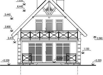 Небольшой двухэтажный домик