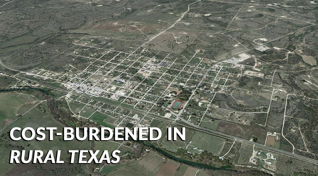 Cost Burdened in Rural Texas