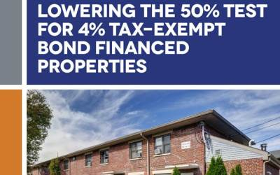 Analyzing the Impact of Lowering the 50% Test for 4% Tax-Exempt Bond-Financed Properties