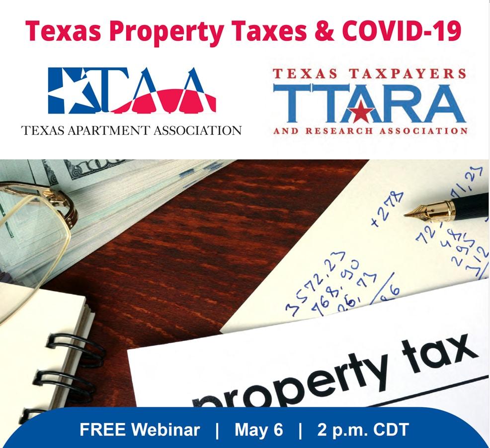 texas property taxes covid19