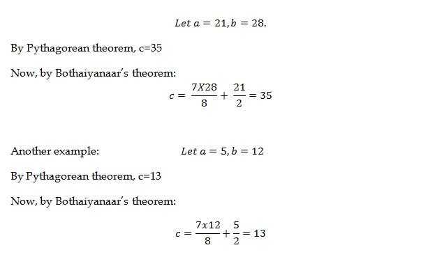 Bothaiyanaar Theorem Example