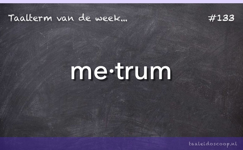 Taalterm van de week: Metrum