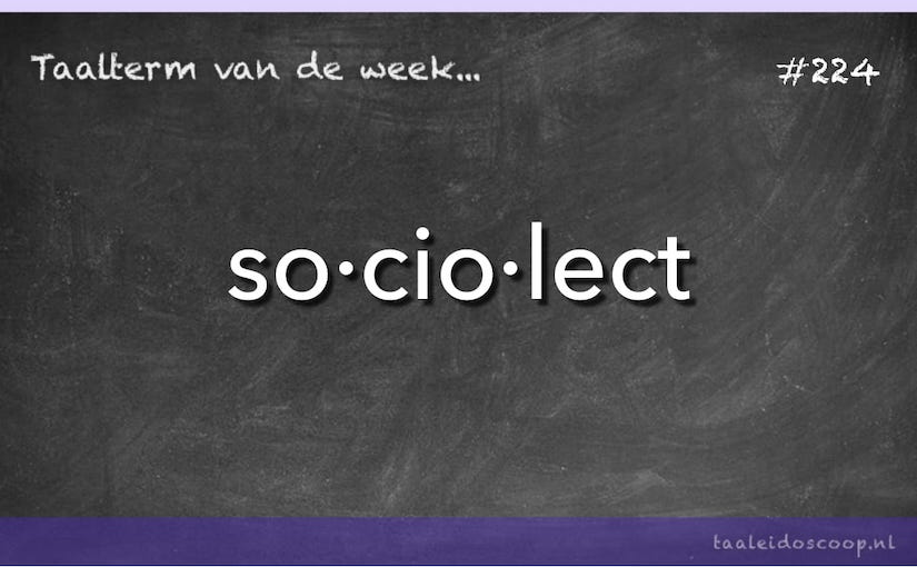 Taalterm van de week: Sociolect