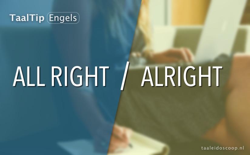 All right vs. alright